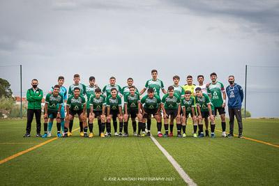Jugadores del juvenil de la Unión Deportiva Sierra de las Nieves primera equipación