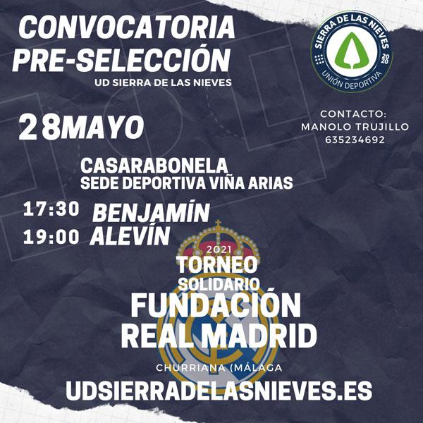 VII Torneo Solidario Fundación Real Madrid -preselección jugadores unión deportiva Sierra de las Nieves