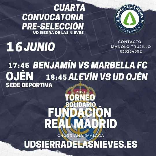 Cuarto entrenamiento de la Selección Ud Sierra de las Nieves.