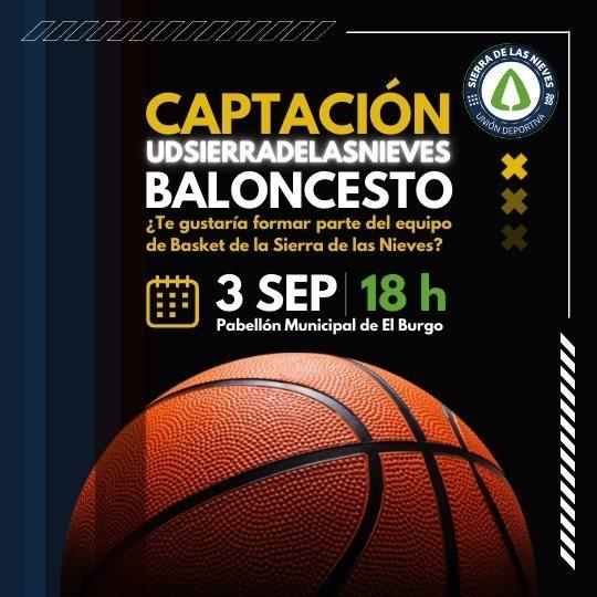 Jornadas Captación Equipo de Baloncesto Unión Deportiva Sierra de las Nieves - Imagen de portada