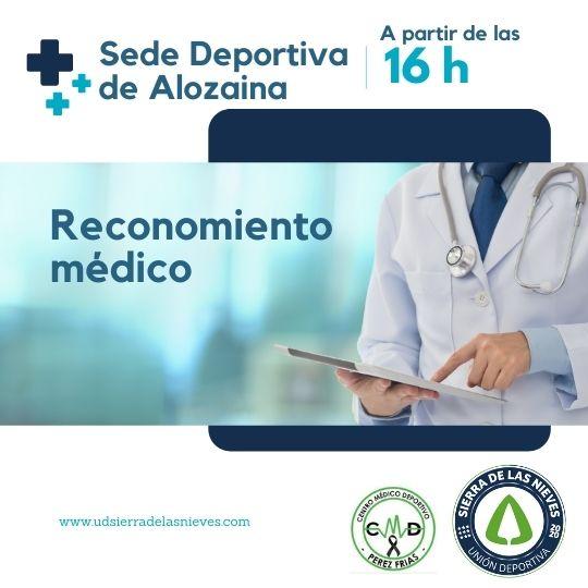 reconocimiento medico unión deportiva sierra de las nieves - Alozaina - Temporada 21 22