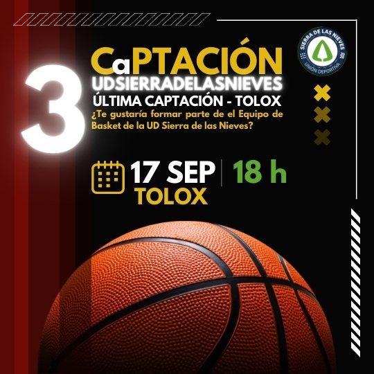 tercera Jornada Captación Equipo de Baloncesto Unión Deportiva Sierra de las Nieves en Tolox