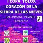 Tolox celebra la I Copa Tolox Corazón Sierra de las NIeves de balonmano femenino